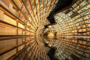 Ένα βιβλιοπωλείο που έρχεται από το μέλλον! Εκεί που ρέουν εκατοντάδες βιβλία σαν ποτάμι (photos)