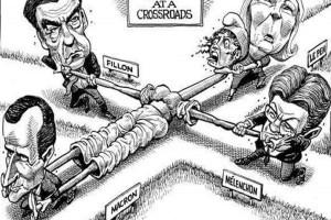 Η Γαλλία σε σταυροδρόμι: Το σκίτσο του Economist για τις Γαλλικές εκλογές που κάνει τον γύρο του διαδικτύου