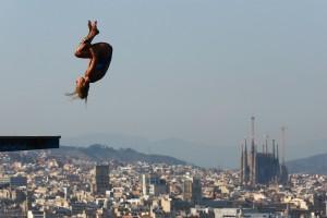 Η φωτογραφία της ημέρας: Κατάδυση στην Βαρκελώνη!