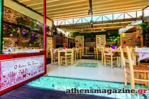 Το μαγαζί στα Πετράλωνα που τον χειμώνα ζεσταίνει τους θαμώνες με το τζάκι του και τα καλοκαίρι ανοίγει την «οροφή» του!