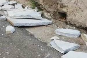 «Έβρεξε»  μάρμαρα στην Λαμία - Απίστευτο περιστατικό (Photos+video)