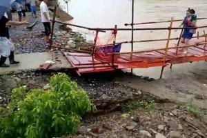 Απίστευτη τύχη! Γυναίκα περνάει από γέφυρα λίγα δευτερόλεπτα πριν ... καταρρεύσει! (video)