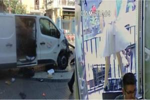 Video από τη στιγμή της επίθεσης στην Ισπανία: Η τρελή πορεία του βαν που ήθελε να ισοπεδώσει την Βαρκελώνη!