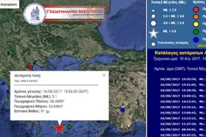 Δυνατός σεισμός ταρακούνησε πριν λίγο τις Κυκλάδες: Ποιο ήταν το επίκεντρο και πόσα τα ρίχτερ;