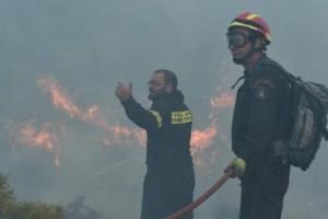"""Σπαρακτική έκκληση πυροσβέστη από τον Κάλαμο στο Facebook: """"Δεν έχουμε νερό! Είναι ανάγκη επιβίωσης!"""" (photo)"""
