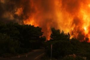 Φλέγεται η Ελλάδα! Τέσσερις μεγάλες πυρκαγιές στην χώρα: Απειλούνται σπίτια! (photos+videos)
