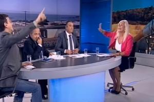 Άγριος καβγάς Αυλωνίτου - Πορτοσάλτε on air! - «Ζητήστε συγγνώμη, αλλιώς μήνυση...» (Video)