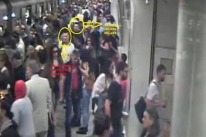 Τρόμος στο Μετρό: Καρέ - καρέ η δράση των πορτοφολάδων! Αρχηγός μια 36χρονη Αλβανίδα! (photos)