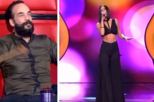 The Voice: Ο Μουζουράκης γύρισε την καρέκλα πριν καν αρχίσει να τραγουδάει η καλλονή παίκτρια! Έμεινε άφωνος από την ομορφιά της (video)