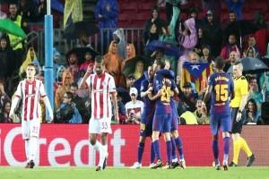 Το πάλεψε στην Βαρκελώνη ο Ολυμπιακός!