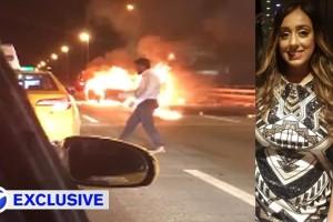 Αν είναι δυνατόν! Η κοπέλα του καιγόταν στο αυτοκίνητο και εκείνος έψαχνε ταξί... (video)