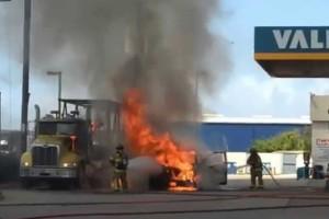 Απίστευτη αυτοθυσία: Άνδρας σώζει βενζινάδικο από φωτιά με κίνδυνο ζωής!
