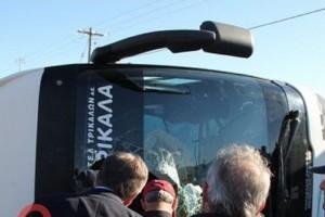 Τροχαίο - σοκ: Αναποδογύρισε λεωφορείο του ΚΤΕΛ που μετέφερε μαθητές! (photos)