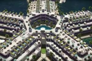 Εντυπωσιακές εικόνες: Δείτε πώς θα είναι η πρώτη «πλωτή πόλη» στον Ειρηνικό Ωκεανό! (Photo & Video)