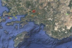 Έκτακτο: Σεισμός πριν από λίγο στην Τουρκία. Κουνήθηκε μέχρι και η Ρόδος!