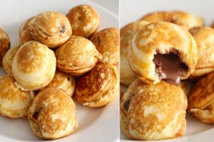 Φτιάξτε πεντανόστιμα και εύκολα mίνι pancakes γεμιστά με Nutella!