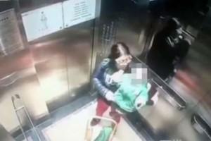 Babysitter χτυπά με γροθιές μωρό μέσα σε ασανσέρ