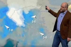 """Ο Σάκης Αρναούτογλου προειδοποιεί: """"Έρχονται λευκά Χριστούγεννα σε..."""" (video)"""