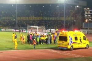 Φωτοβολίδα χτύπησε ball boy στην Κύπρο!