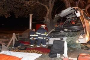 Ασύλληπτη τραγωδία τα ξημερώματα: Σφοδρό τροχαίο λεωφορείου με 11 νεκρούς!