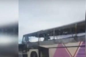 Λεωφορείο τυλίχτηκε στις φλόγες στην Εγνατία οδό! (βίντεο)