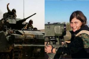 """Απίστευτο! Γυναίκα - """"Ράμπο"""" τινάζει στον αέρα  άρματα μάχης Τούρκων στο Αφρίν"""
