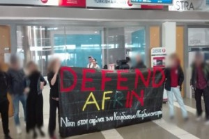 Αντιεξουσιαστές εισέβαλαν στο αεροδρόμιο Μακεδονία και τα γραφεία της Turkish Airlines για την Αφρίν! (Video)