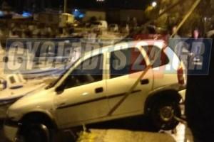 Απίστευτο περιστατικό στη Σύρο: Άνδρας πήγε για τσιγάρα και βρήκε το αυτοκίνητό του στη θάλασσα!