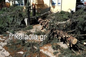 Σφοδρή ανεμοθύελλα έπληξε τα Τρίκαλα! - Σοβαρές ζημιές στην περιοχή (Photo & Video)