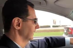 Το περίεργο βίντεο του του Ασαντ: Ο Σύρος πρόεδρος στο τιμόνι, οδηγεί στη Γούτα!