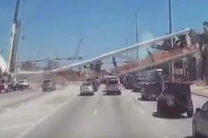 Βίντεο - σοκ: Η στιγμή που η γέφυρα στο Μαΐάμι πέφτει στα τραπουλόχαρτο!