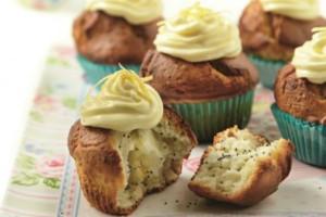 Cupcakes λεμονιού με παπαρουνόσπορο