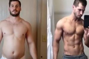 Θεαματική αλλαγή: Πώς ένας άνδρας κατάφερε να μεταμορφώσει το σώμα του σε μόλις 12 βδομάδες! (Video)