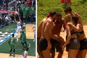 Survivor - Διαρροή: Γουρλήδες ή όχι οι Διάσημοι στον αγώνα του Γιάννη Αντετοκούνμπο; Πλάνα από το ματς που έδωσαν το παρόν! (photos+video)