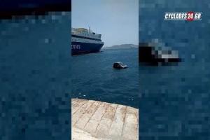Απίστευτο περιστατικό στη Μύκονο! - Αυτοκίνητο έπεσε στη θάλασσα! (Video)