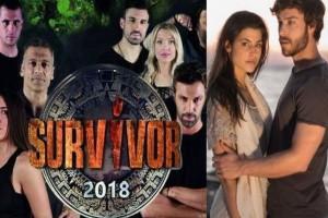 """Μεγάλη ανατροπή στην τηλεθέαση: Η πτώση του Survivor και η """"εξαφάνιση"""" του Game Of Love!"""
