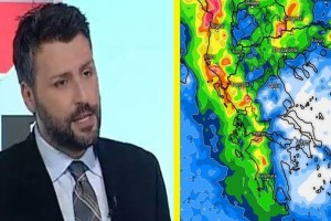 """Ο Γιάννης Καλλιάνος προειδοποιεί: """"Αλλάζει δραματικά ο καιρός! Καταιγίδες και χαλάζι!"""""""