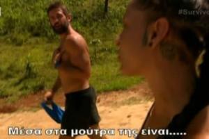 """Survivor 2: Τον έστησε στον... τοίχο! Η Μελίνα Μεταξά """"στρίμωξε"""" τον Πάνο για την κίνηση στη Δαλάκα και εκείνος έκανε... παράπονα! (video)"""
