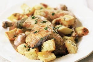 Κοτόπουλο με πατάτες και σάλτσα κρασιού μουστάρδας!