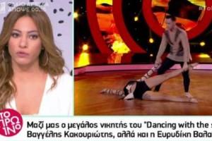 Ευρυδίκη Βαλαβάνη: Η τρυφερή έκπληξη που της έκανε ο Κωνσταντίνος Βασάλος μετά τον τελικό του Dancing with the Stars! (Video)
