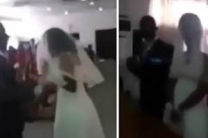Την παράτησε κι εκείνη πήγε στον γάμο του πρώην της φορώντας...νυφικό (video)