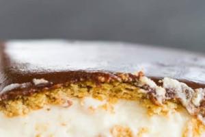 Μια υπέροχη και νόστιμη συνταγή για eclair κέικ με σοκολάτα!