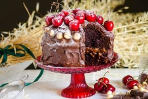 Ζουμερό σοκολατένιο κέικ με νιφάδες βρώμης!