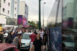 """""""Ντόπες"""" οπαδών στην αποστολή του Ολυμπιακού πριν το ΟΑΚΑ!"""