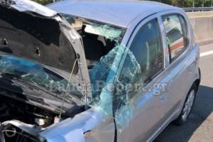 Τροχαίο - σοκ στην Φθιώτιδα: ΙΧ έφερε τούμπες στην Εθνική Οδό! (photos)
