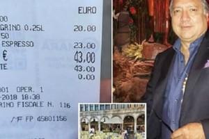 Συνέβη και αυτό: Τουρίστας πλήρωσε για δυο καφέδες και δυο νερά...43 ευρώ! (Photo)