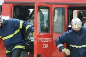 Συναγερμός στο Ηράκλειο: Φορτηγό επιχείρησης τυλίχθηκε στις φλόγες