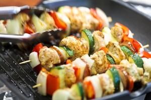 Σουβλάκι κοτόπουλο με λαχανικά!