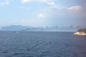 Φλεγόμενο σκάφος βούλιαξε ανοιχτά των Παξών!