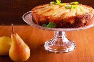 Ανάποδο κέικ με αχλάδια